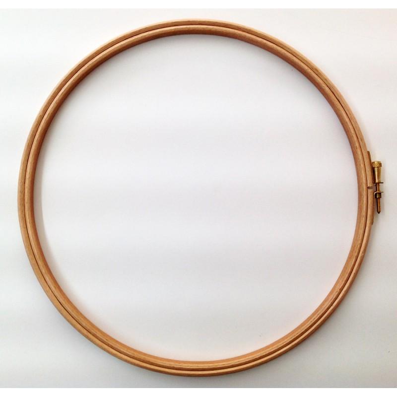 Bastidor redondo de madera para acolchado y bordado (Ø 25 cm). Ideas ...