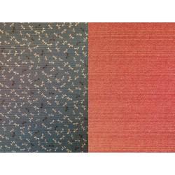 Tela Japonesa Patchwork de doble cara, diseños geométricos y libélulas tonos azulados. Sevenberry