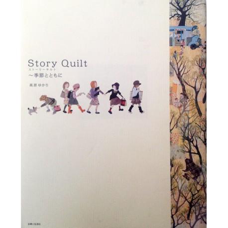 "Libro de aplicaciones Patchwork ""Story Quilt"". Autor Takahara Yukari"