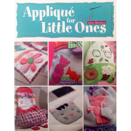 "Libro de aplicaciones  Patchwork ""Aplique for Little One"". Autora Sylvie Blondeau"