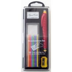 Portaminas de tizas Signet Color, 8 minas blancas y 8 de colores.