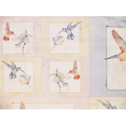 "Tela Patchwork panel colibries. Colección ""Gossamer"" by Shell Rummel."