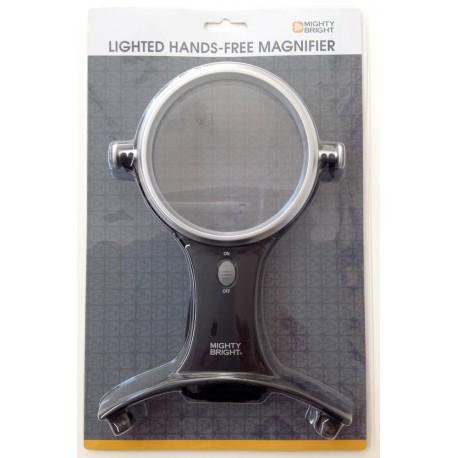 Lupa manos libres bifocal con luz led
