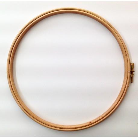 Bastidor redondo de madera para acolchado y bordado(Ø 22 cm). Ideas Patck&Quilt