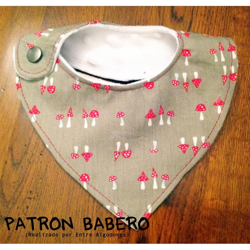 Patr n babero entre algodones - Patchwork en casa patrones ...