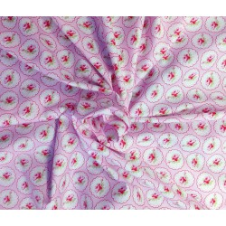 """Tela de Patchwork  de flores. Colección """"Valentine Rose"""" by Tania Whelan"""