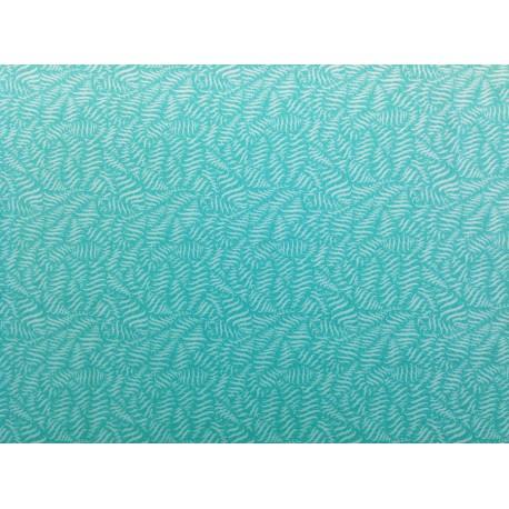 """Tela Patchwork motivos geométricos tonos mar. Colección """"Fox Field-Hoppy"""" by Tula Pink"""