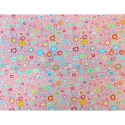 "Tela Patchwork algodón estampado rosa. Colección ""Classics"" by Kaffe Fassett"